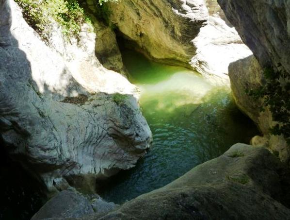 Canyon in der Naehe von Civitella del Tronto